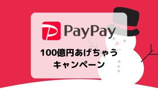 【PayPay支払いの20%還元】100億円あげちゃうキャンペーンまとめ/12月4日~3月末まで