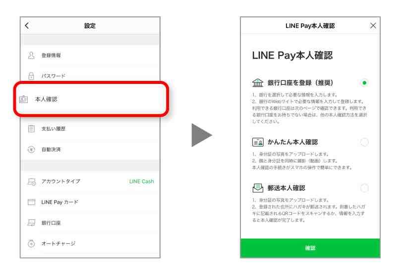 LINE Pay本人確認方法