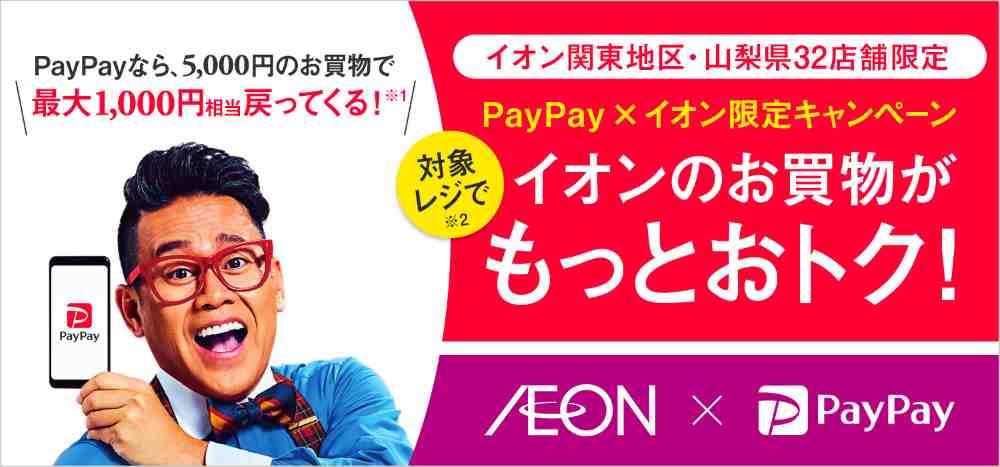 【5月】イオンの対象レジでの買い物が最大で20%還元!