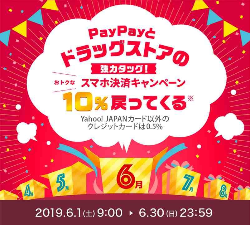 【6月】ドラッグストアの買い物が最大で20%還元!
