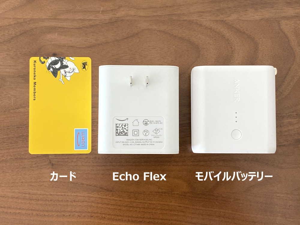 Echo Flexの大きさ比較