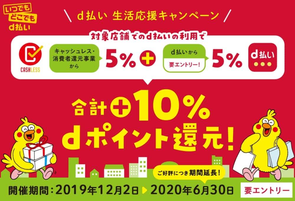 【6/30まで】合計10%還元!生活応援キャンペーン