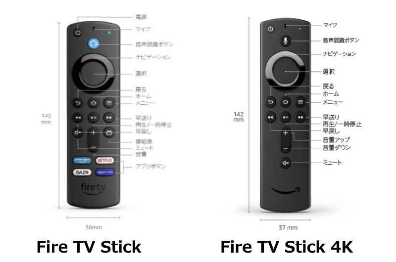fire tv リモコン