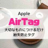 【レビュー】Apple AirTag(エアータグ)は見守り用に使える?使えない?